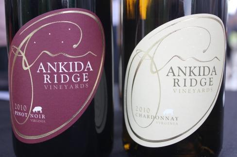 Ankida Ridge, le meilleur pinot que j'aie pu goûter en Virginie.