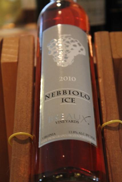 Une des originalités de Breaux, le nebbiolo de glace.